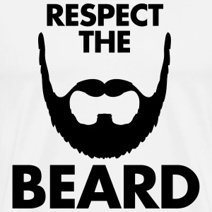 Respect The Beard T-Shirts - Men's Premium T-Shirt