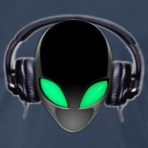 Alien Music Lover DJ (Simplified Fit All) - Men's Premium T-Shirt