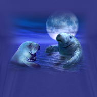 Design ~ Manatees & The Moon