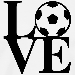 Soccer Love Art T-Shirts - Men's Premium T-Shirt