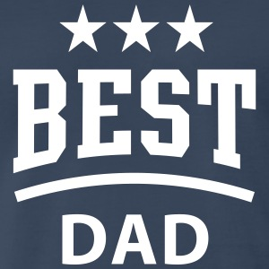 BEST DAD 3 Star T-Shirt / Tee NV - Men's Premium T-Shirt