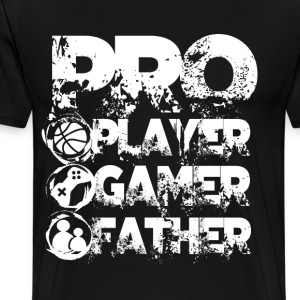 Pro player gamer father - Men's Premium T-Shirt