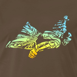 Wingsuit in cool gradient T-Shirts - Men's Premium T-Shirt