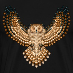 Beadwork Great Horned Owl