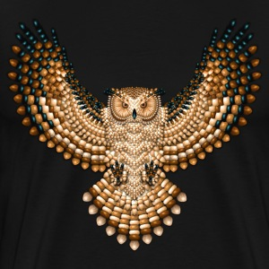 Beadwork Great Horned Owl - Men's Premium T-Shirt