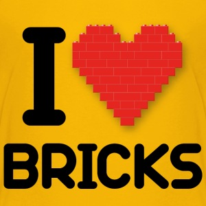 I love Bricks (dd print) Kids' Shirts - Kids' Premium T-Shirt