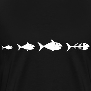 Evolution fishbone Shirt - Men's Premium T-Shirt