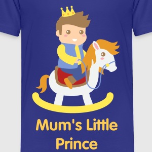 cute little prince on rocking toy horse Baby & Toddler Shirts - Toddler Premium T-Shirt