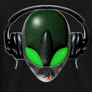 Design ~ Reptile Green Alien DJ Music Lover - Friendly Style