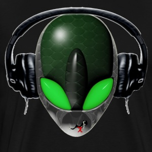 Reptile Green Alien DJ Music Lover - Friendly Styl - Men's Premium T-Shirt