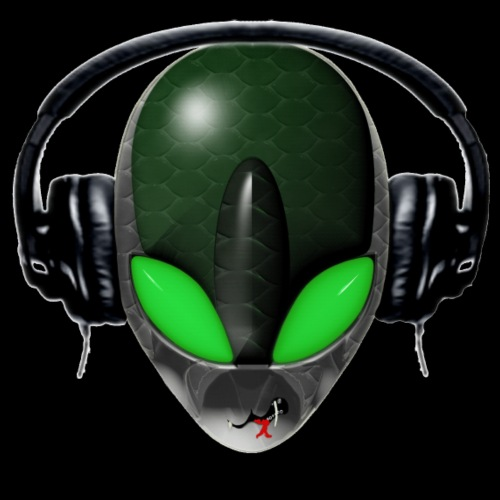 Reptoid Green Alien Face DJ Music Lover - Friendly