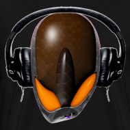 Design ~ Reptoid Alien  Pissed Off DJ in Headphones