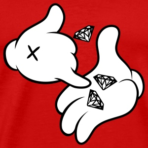 Diamond Cartoon Hands T-Shirts - Men's Premium T-Shirt