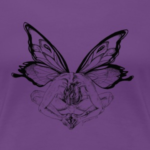 Yoga Tree Butterfly Boat Neck - Women's Premium T-Shirt