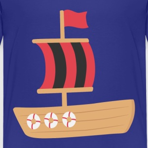 red and black pirate boat Baby & Toddler Shirts - Toddler Premium T-Shirt