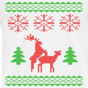 christmas reindeer make love knit T-Shirts - Men's Premium T-Shirt