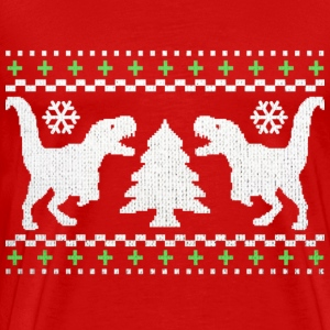 Funny Ugly Christmas T-Rex Sweater - Men's Premium T-Shirt