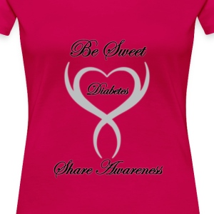 Be Sweet Share Awareness Diabetes Womens Plus Size - Women's Premium T-Shirt