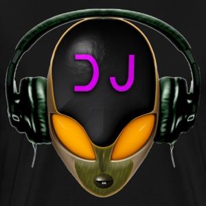 T-shirt - Alien Futuristic DJ with Headphones. Ora - Men's Premium T-Shirt