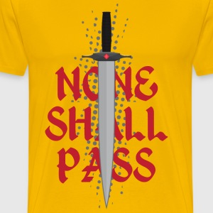 None Shall Pass Men's T-shirts - Men's Premium T-Shirt