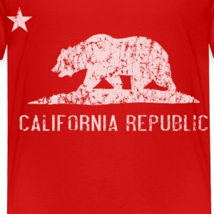 California Republic Flag Distressed Baby & Toddler Shirts - Toddler Premium T-Shirt