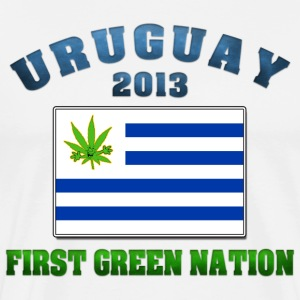 Uruguay Marijuana - First Green Nation 2013 - Men's Premium T-Shirt