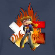 Design ~ Women's XerainGaming Fire Dan T-Shirt