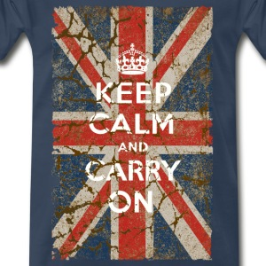 UK Flag and Keep Calm, Hybrid - Men's Premium T-Shirt