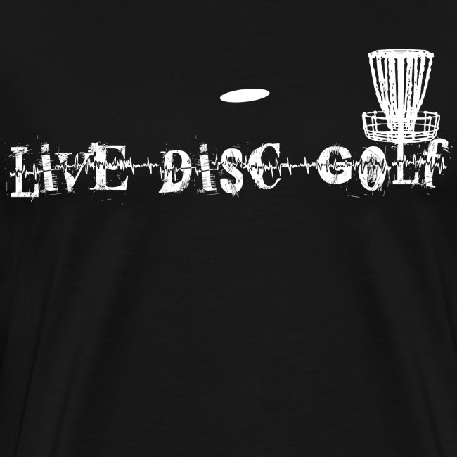 Mens Live Disc Golf Shirt - White Print