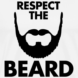 Respect The Beard T-shirts - T-shirt premium pour hommes
