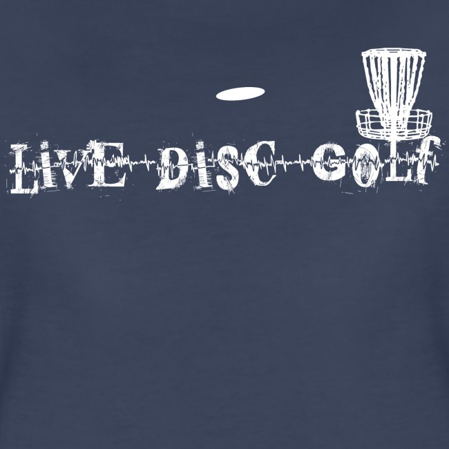 Women's Fitted Live Disc Golf Shirt - White Print