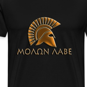 Molon lave-Spartan warrior-lithos font - Men's Premium T-Shirt