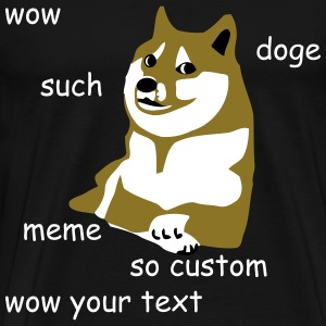 Doge - wow such custom many internet meme so text - Men's Premium T-Shirt