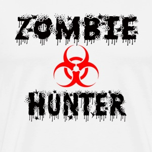 Men's Biohazard Zombie Hunter Shirt - Men's Premium T-Shirt