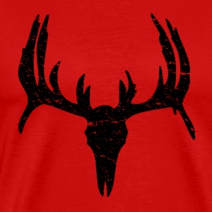 Men's Red Buck Skull Shirt - Men's Premium T-Shirt