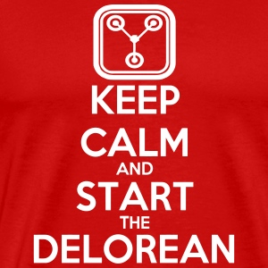 Keep Calm and start the Delorean T-Shirts - Men's Premium T-Shirt