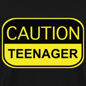 Caution Teenager - Men's Premium T-Shirt