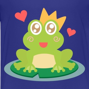 cute and happy frog with crown and hearts Kids' Shirts - Kids' Premium T-Shirt