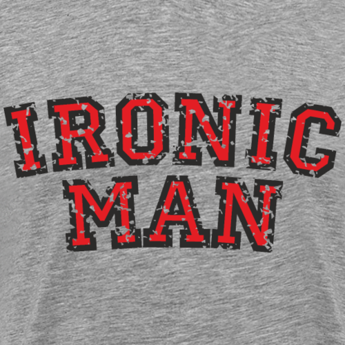 IRONIC MAN Red (Distressed)