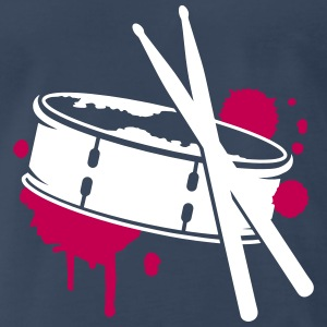 A drum and sticks as a graffiti T-Shirts - Men's Premium T-Shirt