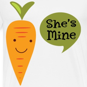 She's Mine Mens Matching Couples Veggie T-Shirts - Men's Premium T-Shirt