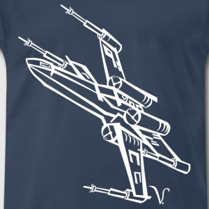 X-Wing Fighter [Artist Rendering 2] Men's Premium - Men's Premium T-Shirt