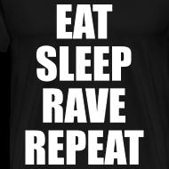 Design ~ Eat Sleep Rave Repeat Heavyweight T Shirt