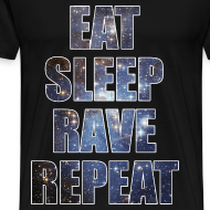 Design ~ Eat Sleep Rave Repeat Stars Heavyweight T Shrit