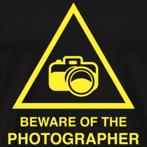 Beware Of The Photographer - Men's Premium T-Shirt