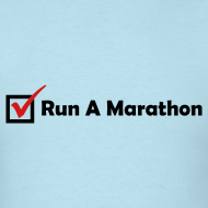 Design ~ MENS RUNNING T SHIRT - RUN MARATHON CHECK