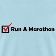 Design ~ MENS RUNNING T SHIRT - RUN MARATHON CHECK