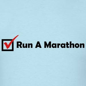 RUN MARATHON CHECK - Men's T-Shirt