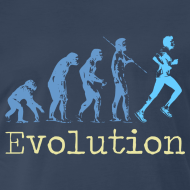 Design ~ MENS RUNNING T SHIRT - EVOLUTION OF RUNNING