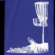 Design ~ Snow Disc Golf Shirt - White Print - Men's Heavy Weight Shirt